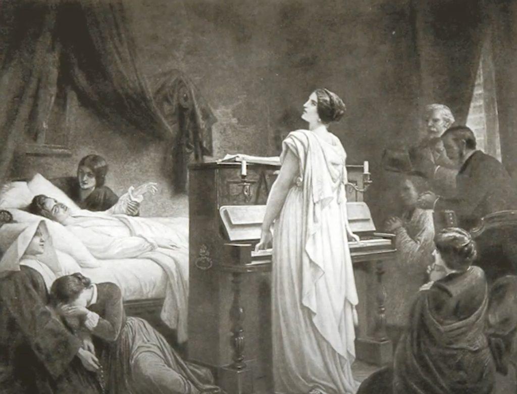 Villa Spada: Ritratto morte di Chopin
